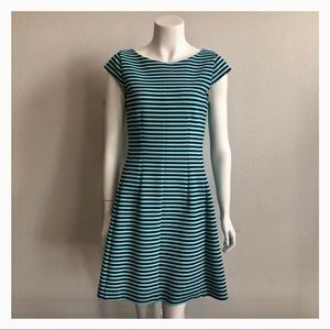 LILY PULITZER STRIPE FIT AND FLARE DRESS